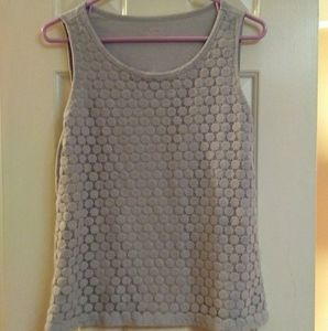 Ann Taylor LOFT Lace Covered Tank